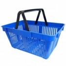 Корзина покупательская пластмассовая синяя