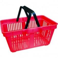 Корзина покупательская пластмассовая красная