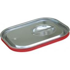 Крышка для гастроемкости GN 1/2 нержавеющая с уплотнительным кольцом