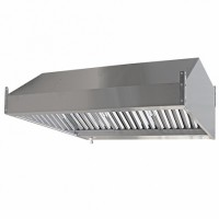 Зонт вытяжной пристенный ЗВ-П10/10 1000х1000х350мм (жироуловитель)
