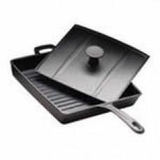 Сковорода с крышкой-прессом (27*27см h =4см чугун)