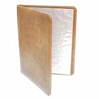 Папка-меню А4 коричневая, рельефные буквы