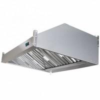 Зонт вытяжной пристенный ЗВэ-П14/09 1400х900х350мм (жироуловитель, вентилятор, подсветка)