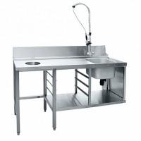 Стол предмоечный СПМП-6-5 (1500x671 мм) душ-стойка, сбор отходов