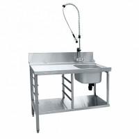 Стол предмоечный СПМП-6-3 (1200x671 мм) душ-стойка