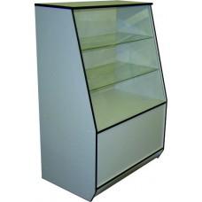 ВДС Витрина 900*550*1300 (полки стекло) белый